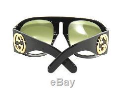 Gucci GG0152S 0152 002 Black Green Sunglasses Sale
