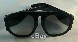 Gucci GG0152S BLACK Acetate Frame Women's Sunglasses 100%