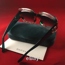 Gucci GG0178S 001 Transparent Green 54MM Oversized Square Women Sunglasses