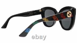 Gucci GG0327S-003 Black Cateye Sunglasses