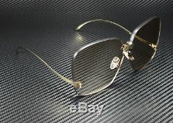 Gucci GG0352S 002 RECTANGULAR SQUARE GOLD BROWN 99 mm Women's Sunglasses