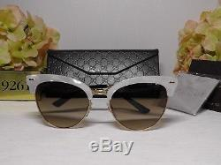 Gucci GG4283S Cat Eye Mother of Pearl/Gold Frame Sunglasses 55 18 140NIB