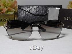 Gucci GG 2820FS Light Gold/Havana Brown Rimless Wrap Sunglasses 62 12 120ITALY