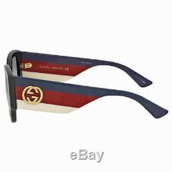 Gucci Grey Gradient Cat Eye Sunglasses GG0276S-001 53 GG0276S-001 53