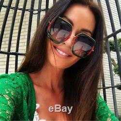 Gucci Men's / Women Sunglasses GG0106S 007 Green Gold/Grey Gradient Lens 56mm