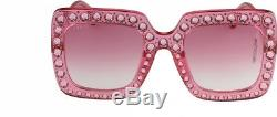 Gucci Pink Crystal Sunglasses (GG0148S 003)