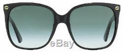 Gucci Square Sunglasses GG0022S 001 Black 57mm 0022