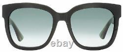 Gucci Square Sunglasses GG0034S 002 Black/Green/Red 54mm 0034
