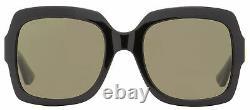 Gucci Square Sunglasses GG0036S 002 Black/Green/Red 0036