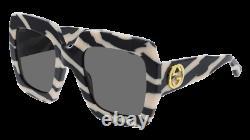 Gucci Sunglasses GG0178S 012 Black grey Women's original