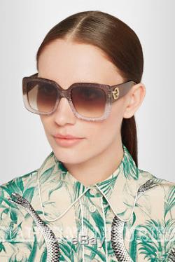 Gucci Sunglasses Gg 3814/s Rqgdb Glitter Brown Pink Optyl Square Interlocking G