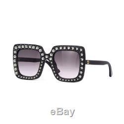 Gucci Sunglasses Women's Black / Gray Gradient Crystals