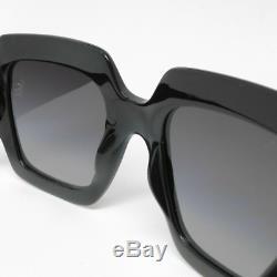 Gucci Sunglasses for Women GG0053S 001 Black Grey Gradient Brand New