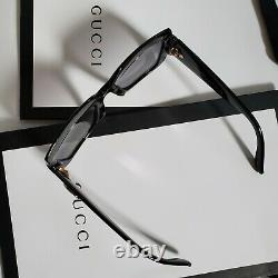 Gucci Sunglasses for Women GG0053S 001 Black Grey Gradient Opened Box