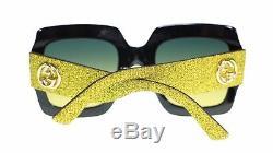 Gucci Women Sunglasses GG0102S 005 Multicolor Multi Treatment Gray Lens 54mm