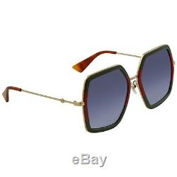 Gucci Women's Fashion Oversize Sunglasses GG0106S 007 Made In Japan