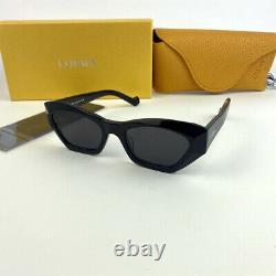 LOEWE LW40027U Geometric CAT EYE Black Gray Sunglasses Eyewear Glasses Women