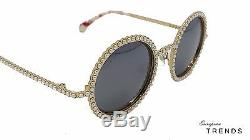 Limited CHANEL Round Pearl Rose Gold / Silver Mirror Sunglasses Auth CLEARANCE