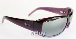 Maui Jim Sunglasses women Blue Water 236-28B Purple Stripe Neutrl Grey Polarized