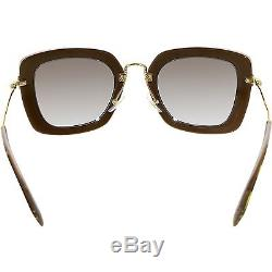 Miu Women's Gradient MU07OS-KAY0A7-52 Black Rectangle Sunglasses