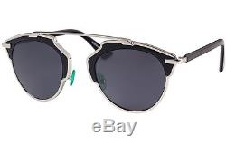 NEW AUTHENTIC CHRISTIAN DIOR SO REAL sunglasses Silver FRAME Gray LENS