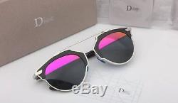 NEW AUTHENTIC CHRISTIAN DIOR SO REAL sunglasses Silver FRAME Pink/Gray LENS