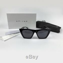 NEW Authentic CELINE EDGE CL 41468/S Black Cat Eye Acetate Sunglasses Women