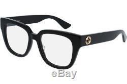 NEW Authentic GUCCI Womens CatEye Glossy Black Eye Glasses Frame GG0037O 001 37O