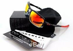 NEW Authentic OAKLEY TRIGGERMAN Black Ink Ruby Iridium Sunglasses OO 9266-10
