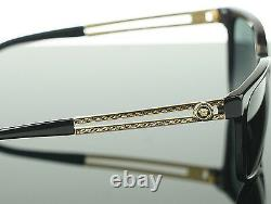 NEW Authentic VERSACE Rock Icons Vani Black Gold Metal Sunglasses VE 4307 GB1/87