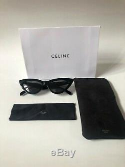 NEW CELINE CL40019 Black Frame Grey Lens Cat Eye Sunglasses 100% Authentic
