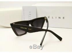 NEW CELINE CL41468/S 807/IR Black Cat Eye Women Sunglasses 100% Authentic
