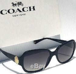 NEW COACH Allie POLARIZED L019 Black w Grey Lens Coin CC Women's Sunglass $248