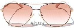 NEW COACH ROSE GOLD 58mm Aviator w Rose Gradient Womens Sunglass L1085 HC7099