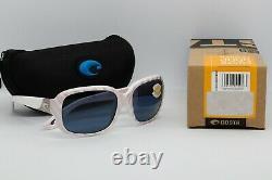 NEW COSTA DEL MAR GANNET Sunglasses Matte Seashell frame / Grey 580P lens Womens