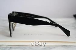 NEW Celine CL41444/S Kim Oversized Square Glass Lens Black Sunglasses AUTHENTIC