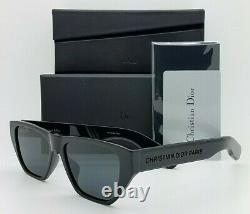 NEW Christian Dior sunglasses InsideOut2 8072K Polished Black Grey AUTHENTIC