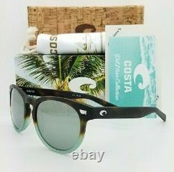 NEW Costa Del Mar Sunglasses Matte Tide Pool Grey Silver 580G Glass AUTHENTIC