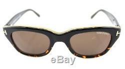NEW Genuine James Bond TOM FORD Snowdon Havana Sunglasses TF 237 FT 0237 05J 50