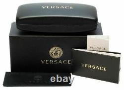 NEW Genuine VERSACE MEDUSA BIGGIE Black Grey Hexagonal Sunglasses VE 4361 GB187