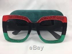 30363129d5 New Gucci Gg0083s 001 Red Black Gradient Lenses 55mm Oversize Women  Sunglasses