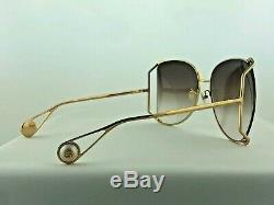 NEW Gucci GG0252S 003 Sunglasses Gold Brown 100% UV Women Sunglasses