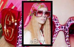 NEW Gucci GG 0145 S 001 Rihanna Met Gala Limited Edition Pink Sunglasses