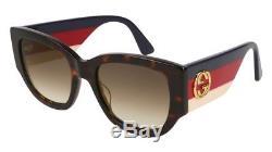 NEW Gucci Sensual Romantic GG 0276S Sunglasses 002 Havana 100% AUTHENTIC