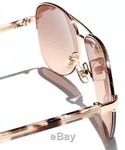 NEW KATE SPADE BETHANN Rose Gold 57mm Aviator Rose Gold mirrored lens Sunglass