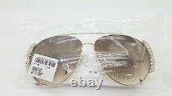 NEW MCM Sunglasses Gold with Crystals / Brown Gradient MCM125S (717) 62mm Aviator
