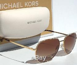 NEW MICHAEL KORS AVIATOR Tortoise GOLD w Bronze 58mm Sunglass MK5009 Rodinara