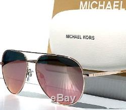 091c19873389d New Michael Kors Aviator W Rose Gold Mirrored Rodinara Sunglass Mk5009