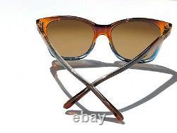 NEW Maui Jim ALEKONA Carmel Blue fade w Polarized Women Sunglass HS793-18b