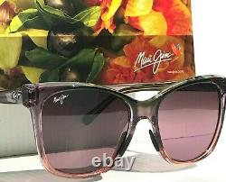 NEW Maui Jim ALEKONA Pink Clear fade w Polarized Rose Women Sunglass RS793-09